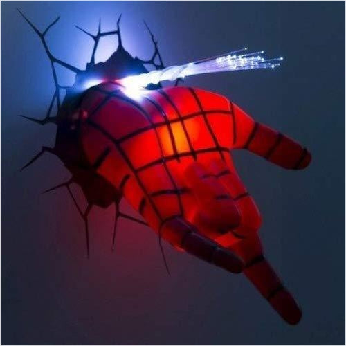 3D Wall Art Nightlight - Spiderman Hand - Find unique gifts for superhero fans, the avengers, DC, marvel fans all super villians and super heroes gift ideas, games collectibles and gadgets at Gifteee Cool gifts, Unique Gifts for comic book fans