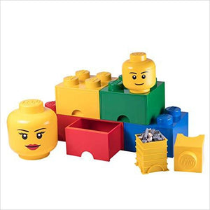 LEGO Storage Head - Find construction toys for kids, building games, LEGO sets and puzzles for the young engineer at Gifteee Unique Gifts, Cool gifts for kids of all ages