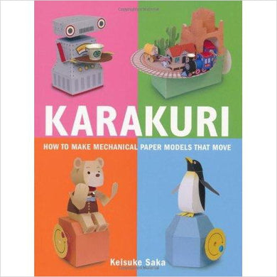 Karakuri: How to Make Mechanical Paper Models That Move - Gifteee - Unique Gift Ideas for Adults & Kids of all ages. The Best Birthday Gifts & Christmas Gifts.