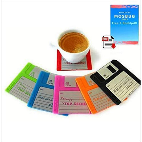 Floppy Disk Coasters - Find unique decor gifts for the office and workplace, get cool gadgets for your office desk and cubicle at Gifteee Cool gifts, Unique decor Gifts for the office and workplace
