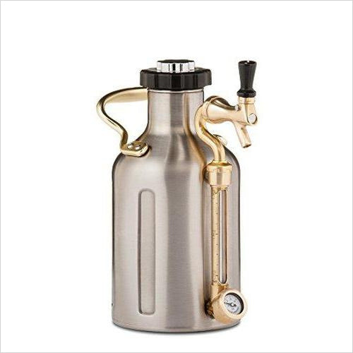 uKeg 64 Pressurized Growler for Craft Beer-Kitchen - www.Gifteee.com - Cool Gifts \ Unique Gifts - The Best Gifts for Men, Women and Kids of All Ages
