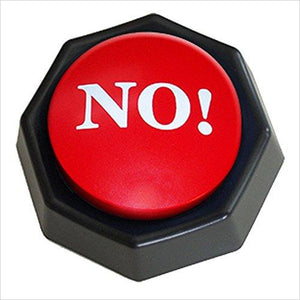 No! Button-Toy - www.Gifteee.com - Cool Gifts \ Unique Gifts - The Best Gifts for Men, Women and Kids of All Ages
