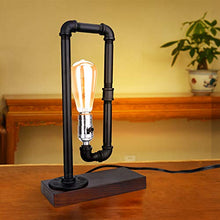Load image into Gallery viewer, Metal Water Pipe Table Lamp