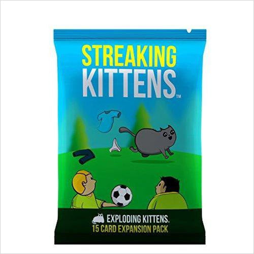 Streaking Kittens: This Is The Second Expansion of Exploding Kittens-Toy - www.Gifteee.com - Cool Gifts \ Unique Gifts - The Best Gifts for Men, Women and Kids of All Ages