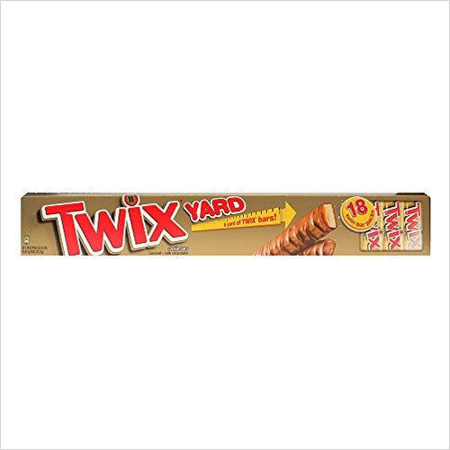 Twix Yard Bars, 18 Count - Find unique gifts that will get you kids eating well and eating healthy with unique foodie gifts for kids dinner and the kitchen at Gifteee Cool gifts, Unique Gifts that will make kids enjoy eating