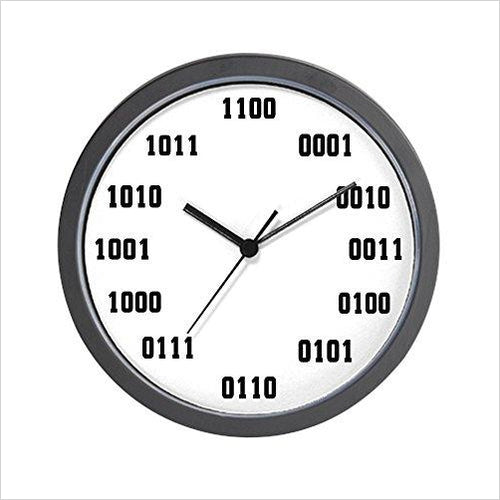 Binary Clock-clock - www.Gifteee.com - Cool Gifts \ Unique Gifts - The Best Gifts for Men, Women and Kids of All Ages