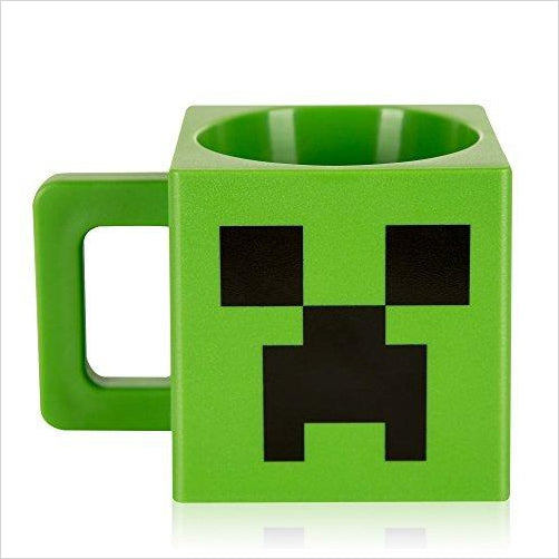 Minecraft Creeper Face Plastic Mug - Find unique gifts that will get you kids eating well and eating healthy with unique foodie gifts for kids dinner and the kitchen at Gifteee Cool gifts, Unique Gifts that will make kids enjoy eating
