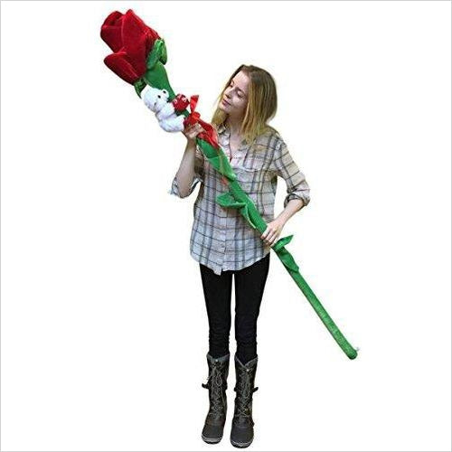 Giant Rose - 6-feet Tall-Toy - www.Gifteee.com - Cool Gifts \ Unique Gifts - The Best Gifts for Men, Women and Kids of All Ages