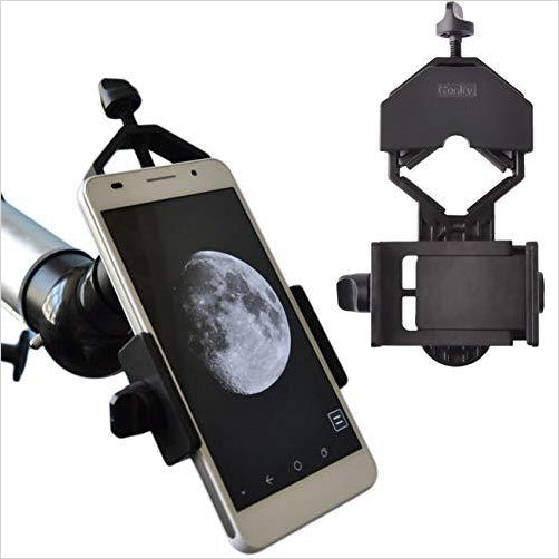 Telescope - Cell Phone Adapter Mount - Find unique STEM gifts find science kits, educational games, environmental gifts and toys for boys and girls at Gifteee Cool gifts, Unique Gifts for science lovers