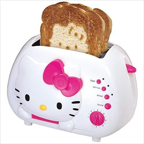 Hello Kitty Slot Toaster - Find unique gifts that will get you kids eating well and eating healthy with unique foodie gifts for kids dinner and the kitchen at Gifteee Cool gifts, Unique Gifts that will make kids enjoy eating