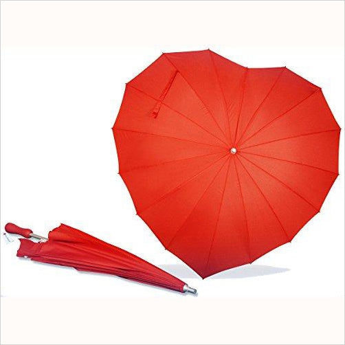 Heart Shaped Umbrella - Find unique love and romance gifts, special gifts for Valentine's day, beautiful gifts for your girl friend to spread love into the air at Gifteee Cool gifts, Unique Gifts for Valentine's day