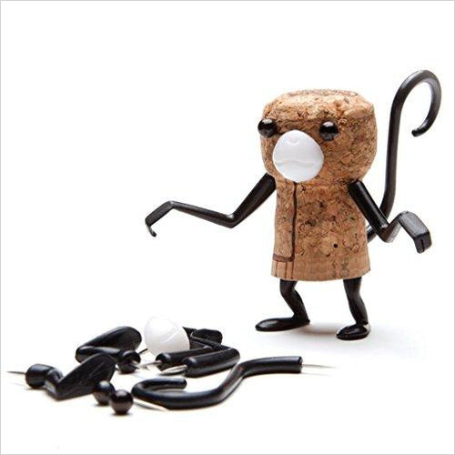 Wine-Accessories - Corkers animals Monkey - Find unique arts and crafts gifts for creative people who love a new hobby or expand a current hobby, art accessories, craft kits and models at Gifteee Cool gifts, Unique Gifts for arts and crafts lovers