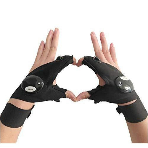 Fingerless LED Flashlight Gloves-Sports - www.Gifteee.com - Cool Gifts \ Unique Gifts - The Best Gifts for Men, Women and Kids of All Ages