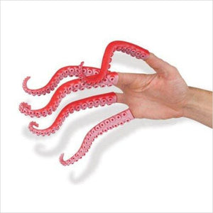 Set of Ten Rubber Finger Tentacle Puppets-Toy - www.Gifteee.com - Cool Gifts \ Unique Gifts - The Best Gifts for Men, Women and Kids of All Ages