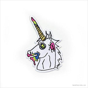 ZOMBIE UNICORN PATCH-patch - www.Gifteee.com - Cool Gifts \ Unique Gifts - The Best Gifts for Men, Women and Kids of All Ages