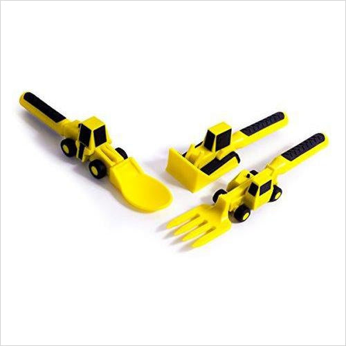 Constructive Eating - Set of Construction Utensils-Baby Product - www.Gifteee.com - Cool Gifts \ Unique Gifts - The Best Gifts for Men, Women and Kids of All Ages