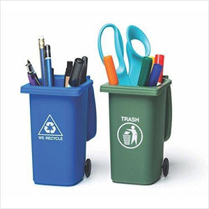 Mini Trash and Recycle Can Desktop Organizer-Office Product - www.Gifteee.com - Cool Gifts \ Unique Gifts - The Best Gifts for Men, Women and Kids of All Ages