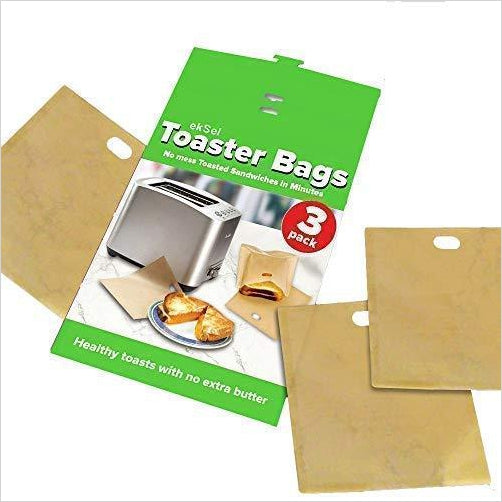 Non Stick Reusable Toaster Bags - Find unique gift ideas for foodies, for those who love to cook, love to eat, wine lovers, bar accessories and that enjoy unique kitchen gifts and accessories at Gifteee Unique Gifts, Cool gifts for men and women