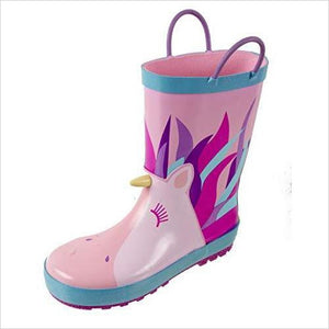 Unicorn Printed Waterproof Rain Boots-Shoes - www.Gifteee.com - Cool Gifts \ Unique Gifts - The Best Gifts for Men, Women and Kids of All Ages