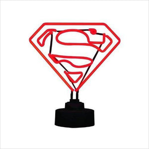 Superman Mini Neon Sign - Find unique gifts for superhero fans, the avengers, DC, marvel fans all super villians and super heroes gift ideas, games collectibles and gadgets at Gifteee Cool gifts, Unique Gifts for comic book fans