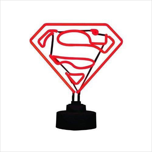 Superman Mini Neon Sign-Toy - www.Gifteee.com - Cool Gifts \ Unique Gifts - The Best Gifts for Men, Women and Kids of All Ages