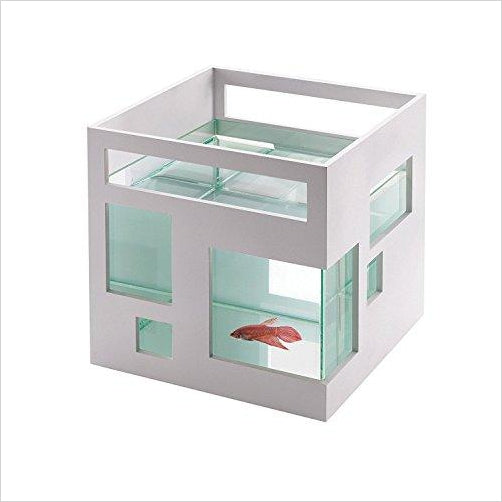 FishHotel Mini Aquarium - Find the most unique and unusual gifts. Weird gifts ideas that you never saw before. unusual gadgets, unique products that simply very odd at Gifteee Odd gifts, Unusual Gift ideas