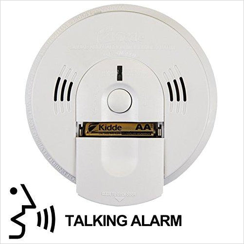 Battery-Operated Combination Smoke/Carbon Monoxide Alarm with Voice Warning - Find the newest innovations, cool gadgets to use at home, at the office or when traveling. amazing tech gadgets and cool geek gadgets at Gifteee Cool gifts, Unique Tech Gadgets and innovations