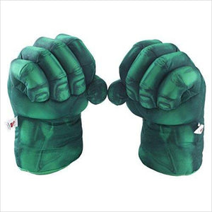 Hulk Smash Hands Fists Big Soft Plush Gloves - Find unique gifts for a newborn baby and cool gifts for toddlers ages 0-4 year old, gifts for your kids birthday or Christmas, special baby shower gifts and age reveal gifts at Gifteee Unique Gifts, Cool gifts for babies and toddlers