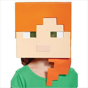 Girl's Minecraft Alex Vacuform Mask Child Halloween Costume Accessory-Apparel - www.Gifteee.com - Cool Gifts \ Unique Gifts - The Best Gifts for Men, Women and Kids of All Ages