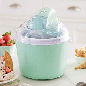 Deluxe Ice Cream Frozen Yogurt & Sorbet Maker - Find unique gifts that will get you kids eating well and eating healthy with unique foodie gifts for kids dinner and the kitchen at Gifteee Cool gifts, Unique Gifts that will make kids enjoy eating