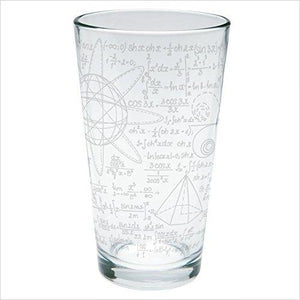 Math Geek Formulas Etched Pint Glass - Gifteee. Find cool & unique gifts for men, women and kids
