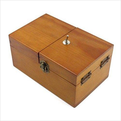 Wooden Useless Box - Find funny gift ideas, the best gag gifts, gifts for pranksters that will make everybody laugh out loud at Gifteee Cool gifts, Funny gag Gifts for adults and kids