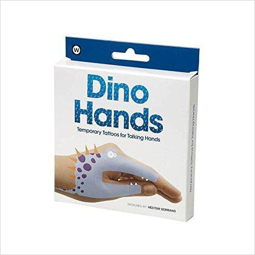 Dino Hands Temporary Tattoos (8 Count) - Find unique arts and crafts gifts for creative people who love a new hobby or expand a current hobby, art accessories, craft kits and models at Gifteee Cool gifts, Unique Gifts for arts and crafts lovers
