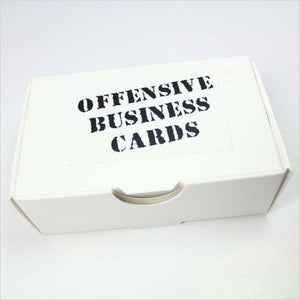 Offensive Business Cards-Toy - www.Gifteee.com - Cool Gifts \ Unique Gifts - The Best Gifts for Men, Women and Kids of All Ages