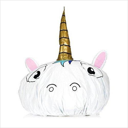 Unicorn Shower Cap-Home - www.Gifteee.com - Cool Gifts \ Unique Gifts - The Best Gifts for Men, Women and Kids of All Ages