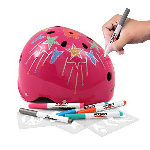 Wipeout Dry Erase Helmet - Find unique arts and crafts gifts for creative people who love a new hobby or expand a current hobby, art accessories, craft kits and models at Gifteee Cool gifts, Unique Gifts for arts and crafts lovers