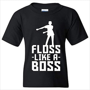 Floss Like A Boss T Shirt-Apparel - www.Gifteee.com - Cool Gifts \ Unique Gifts - The Best Gifts for Men, Women and Kids of All Ages