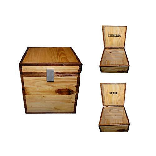 Minecraft Wood Storage Chest-Toy - www.Gifteee.com - Cool Gifts \ Unique Gifts - The Best Gifts for Men, Women and Kids of All Ages