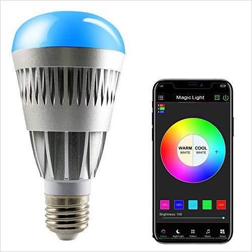 Bluetooth Smart LED Light Bulb - Smartphone Controlled - Find the newest innovations, cool gadgets to use at home, at the office or when traveling. amazing tech gadgets and cool geek gadgets at Gifteee Cool gifts, Unique Tech Gadgets and innovations