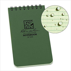 "All-Weather Top-Spiral Notebook, 3"" x 5""-Office Product - www.Gifteee.com - Cool Gifts \ Unique Gifts - The Best Gifts for Men, Women and Kids of All Ages"