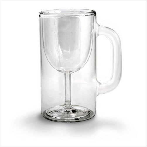 Double-Walled Stemware Mug - Find the most unique and unusual gifts. Weird gifts ideas that you never saw before. unusual gadgets, unique products that simply very odd at Gifteee Odd gifts, Unusual Gift ideas