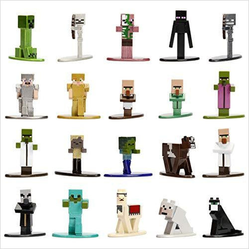 Minecraft 20-Pack Wave 1 Die-cast Figure - Gifteee. Find cool & unique gifts for men, women and kids