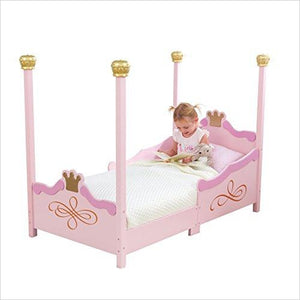 Princess Toddler Bed - Find unique gifts for a newborn baby and cool gifts for toddlers ages 0-4 year old, gifts for your kids birthday or Christmas, special baby shower gifts and age reveal gifts at Gifteee Unique Gifts, Cool gifts for babies and toddlers