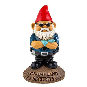 Gnomeland Security Garden Gnome-Lawn & Patio - www.Gifteee.com - Cool Gifts \ Unique Gifts - The Best Gifts for Men, Women and Kids of All Ages