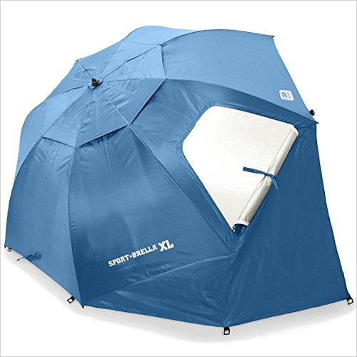Sport-Brella XL Portable All-Weather and Sun Umbrella. 9-Foot Canopy - Find the perfect gift for a sport fan, gifts for health fitness fans at Gifteee Cool gifts, Unique Gifts for wellness, sport and fitness