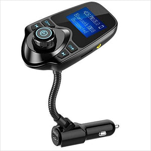 Wireless In-Car Bluetooth FM Transmitter Radio Adapter-Wireless - www.Gifteee.com - Cool Gifts \ Unique Gifts - The Best Gifts for Men, Women and Kids of All Ages