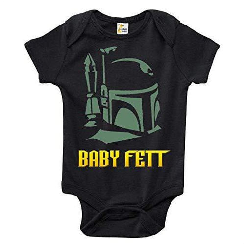 Baby Fett Star Wars Themed Baby Body Suit - Find unique gifts for Star Wars fans, new star wars games and Star wars LEGO sets, star wars collectibles, star wars gadgets and kitchen accessories at Gifteee Cool gifts, Unique Gifts for Star Wars fans