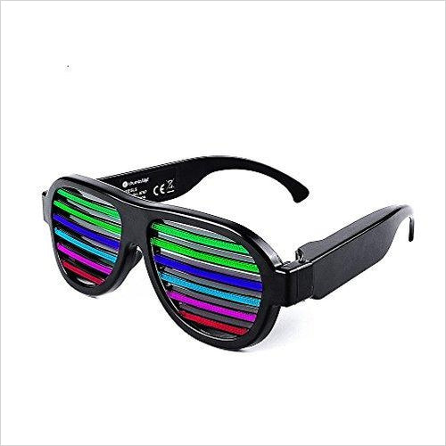 Sound Activated Led Flashing Glasses - Find unique for sound lovers, for music fans, for musicians, composers and everybody that love unique sound related gifts at Gifteee Cool gifts, Unique Gifts for sound and music