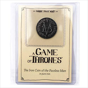 Game of Thrones: Fully Licensed Iron Coin of The Faceless Man by Shire Post-Toy - www.Gifteee.com - Cool Gifts \ Unique Gifts - The Best Gifts for Men, Women and Kids of All Ages