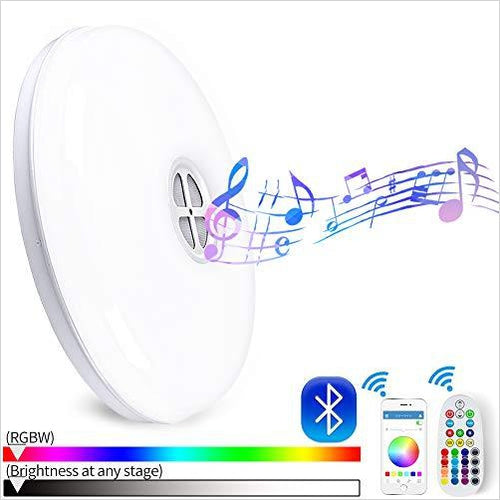 Ceiling Light - Color Changing with Bluetooth Speaker and Remote Controller - Gifteee. Find cool & unique gifts for men, women and kids